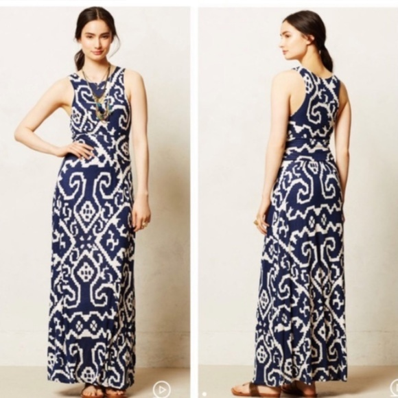 Anthropologie Dresses & Skirts - Anthropologie Maeve Maxi Dress Size Small Navy